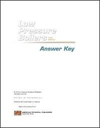 Low Pressure Boilers Study Guide Answer Key PDF Download